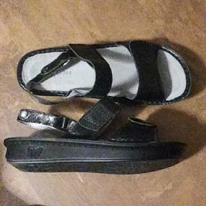 Alegria Verona Black Genuine Leather Sandals 40SZ-